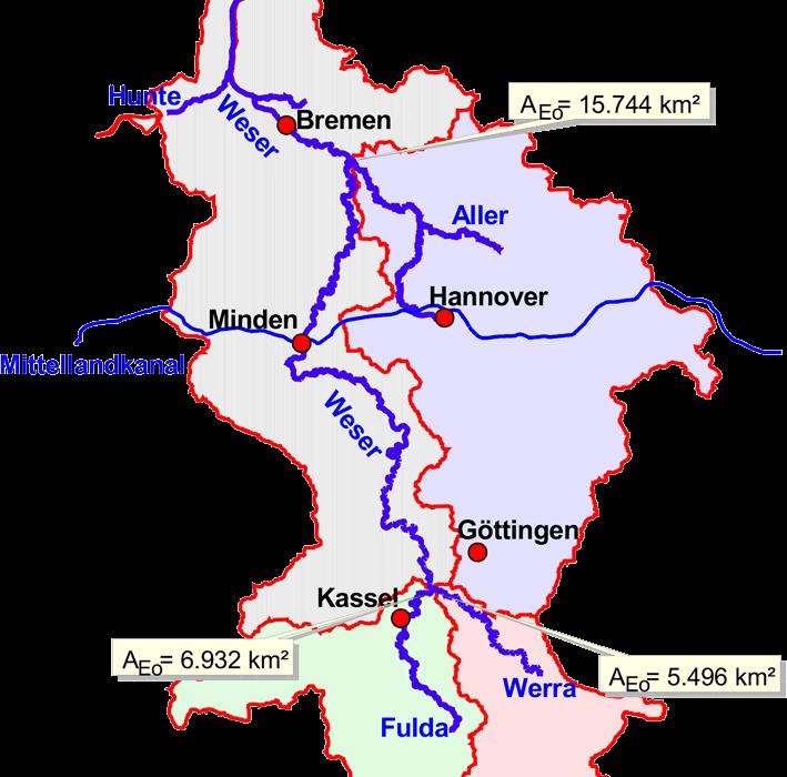 Einzugsgebiet der Weser, gesamt