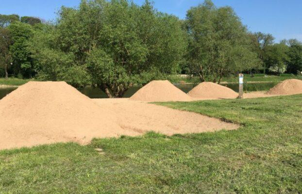 Neuer Sand für den Weserstrand Minden!