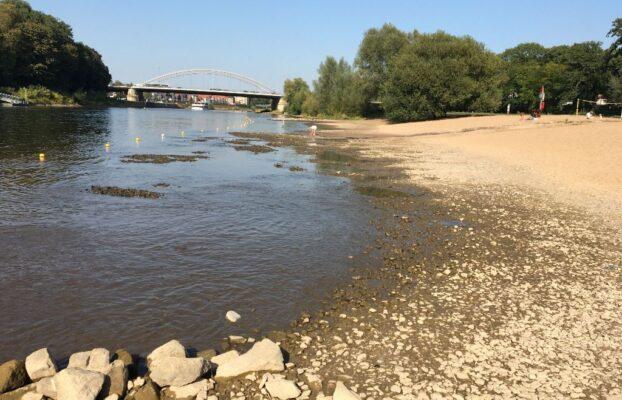In 2020 niedrigster Wasserstand in der Weser