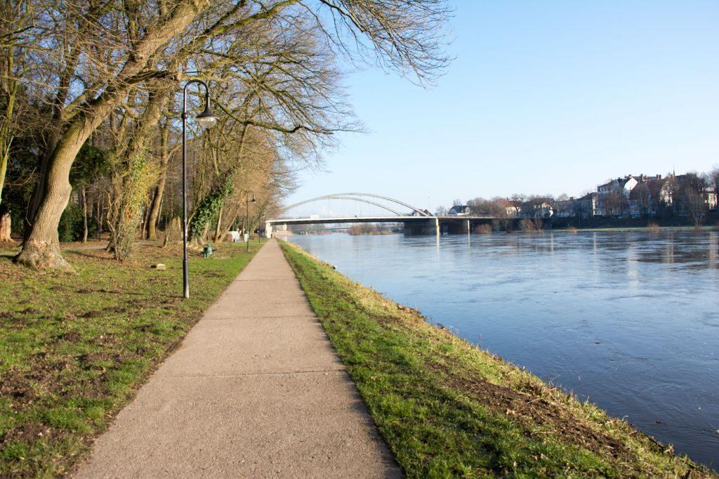Weserpromenade in Minden. Das geht noch schöner.